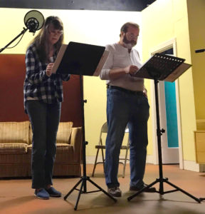 Gina Shuck and Bruce Leister at auditions for Muckey Landing
