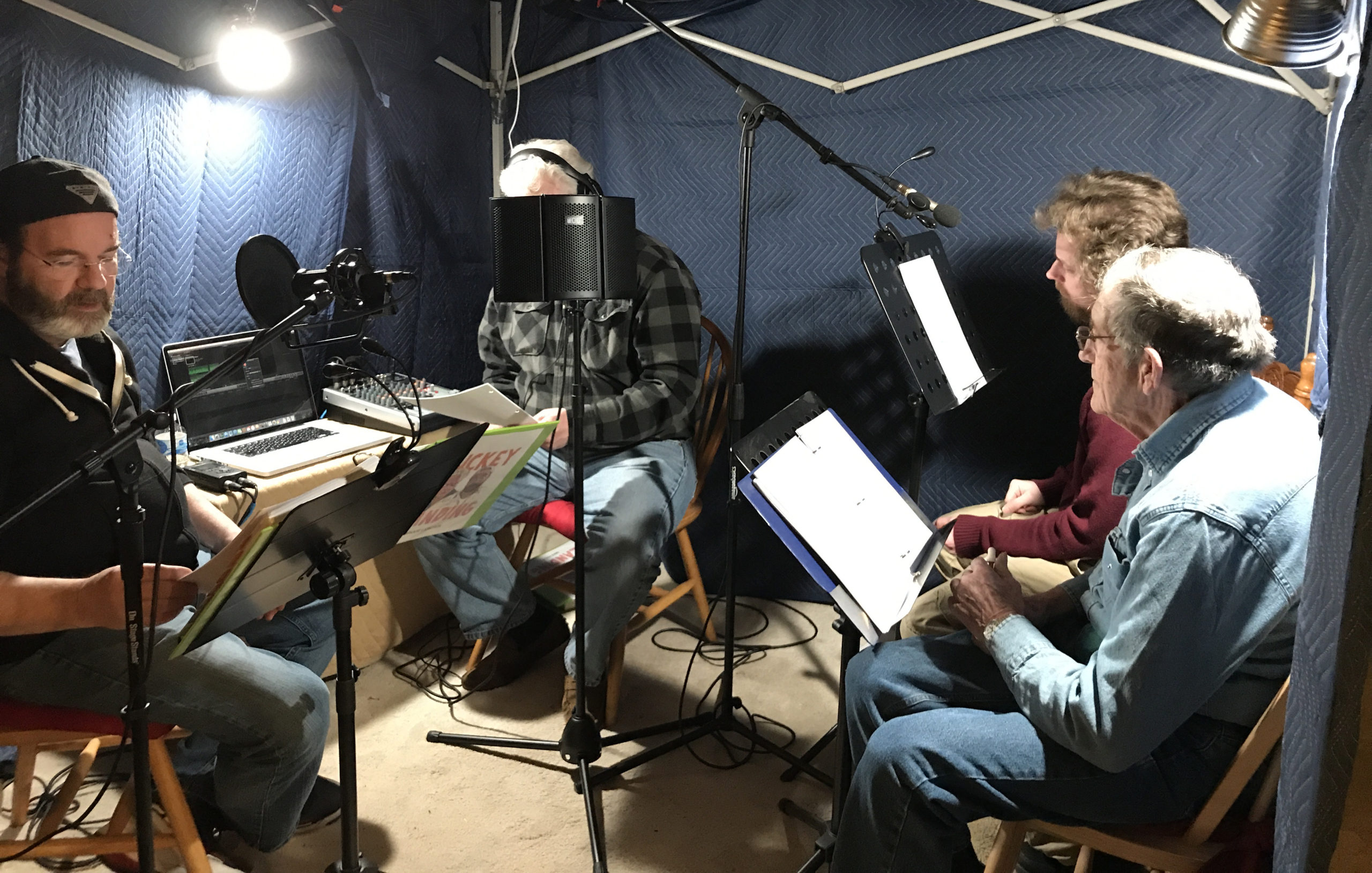 Group recording session of Muckey Landing